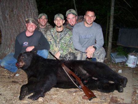 Maine guided blackbear hunting