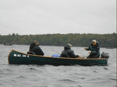 Chartered Maine fishing