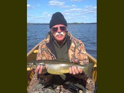 Lake trout fishing in Maine