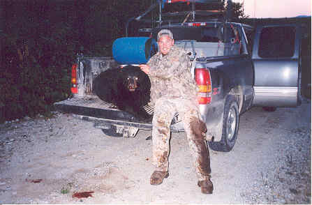 Guided Maine blackbear hunt
