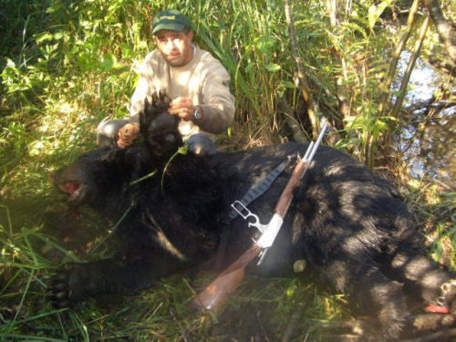 Trophy blackbear hunting in Maine